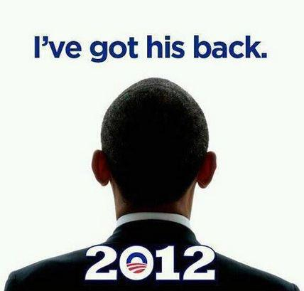"A head-and-shoulders shot of President Obama from behind, with the caption ""I've got his back."" The campaign urged people to share and add their names. In the first 13 hours after posting, it was commented on almost 32,000 times, shared more than 50,000 times and ""liked"" more than 365,000 times."